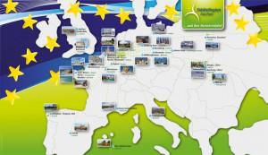 Karte der Städtepartnerschaften